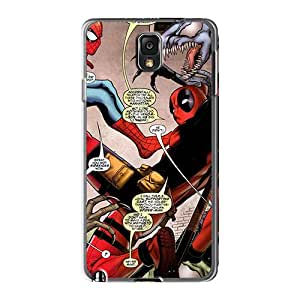 Shock Absorbent Cell-phone Hard Cover For Samsung Galaxy Note 3 With Customized Nice Deadpool I4 Skin WandaDicks