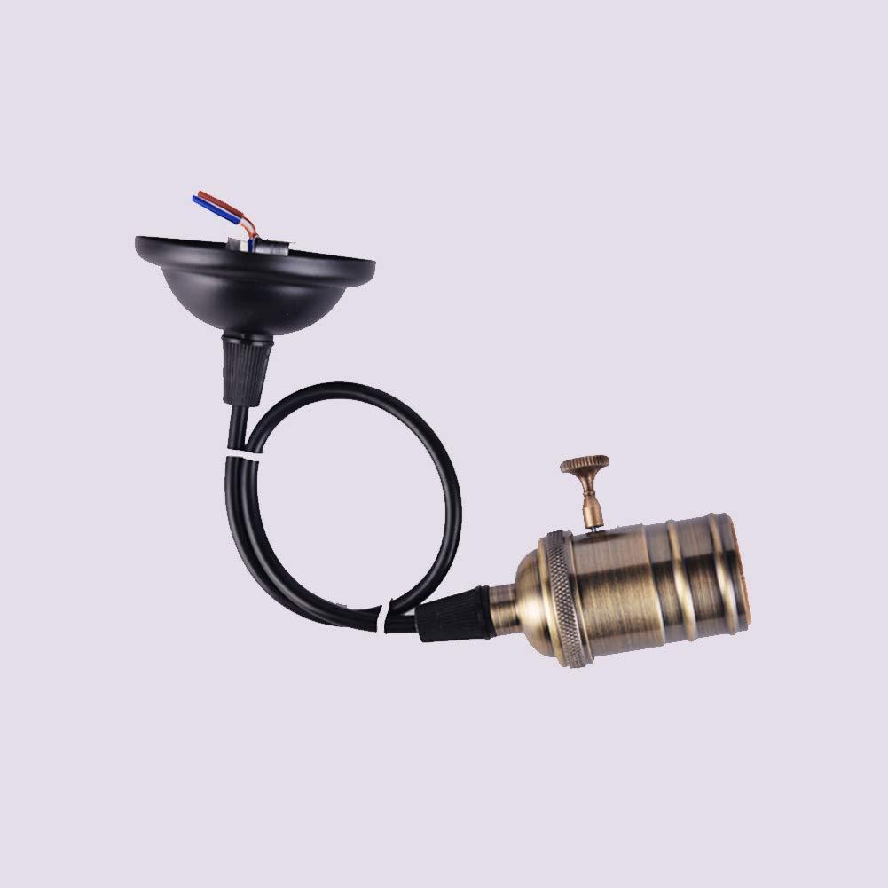 E27 Socket vis Ampoules Edison R/étro Pendentif Porte-Lampe avec Fil pour Douille de Lampe et dappareils de Remplacement Vintage industriels Style Projets de Bricolage 110-220V Socket Bronze