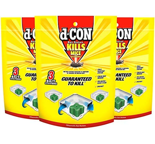 (D-con 3 Count Disposable Bait Stations - Corner Fit)