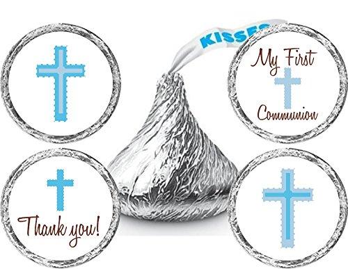Philly Art & Crafts Communion Stickers - Communion Candy Stickers - Boy Communion Candy Stickers - Set of 324 Stickers]()
