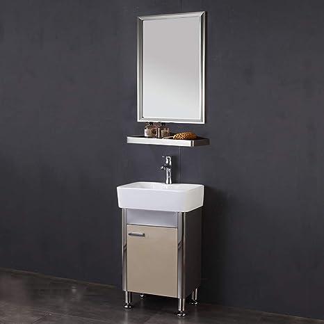 Amazon Com Ztgl Vanity Unit With Basin And Mirror Floor Standing Vanity Unit Bathroom Storage 480 X 830 Mm Vanity Unit Gold Home Kitchen