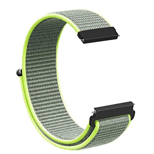 Kiorc Replacement Soft Nylon Loop Wrist Band Strap for Samsung Galaxy Watch 46mm (Green)