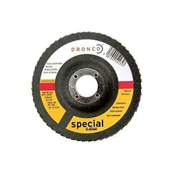 Dronco G-AZ-A - Discos de láminas abrasivas de zirconio, grano 40