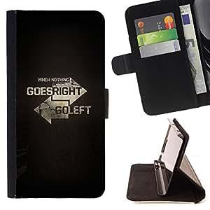 /Skull Market/ - LEFT RIGHT TYPOGRAPHY For Samsung Galaxy Note 4 IV - Caja de la carpeta del tir???¡¯???€????€?????????&Ati