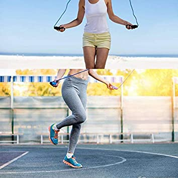 Jump Rope Skipping Rope,Adjustable Length Wire Rope Weight Loss Men No Tangles Suitable for Fitness Suitable for Children Women Ball Bearing