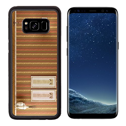 Amphora Lamp (MSD Premium Samsung Galaxy S8 Aluminum Backplate Bumper Snap Case Empty vintage interior with elegant wallpaper floor lamp and two picture rendering IMAGE 20669396)