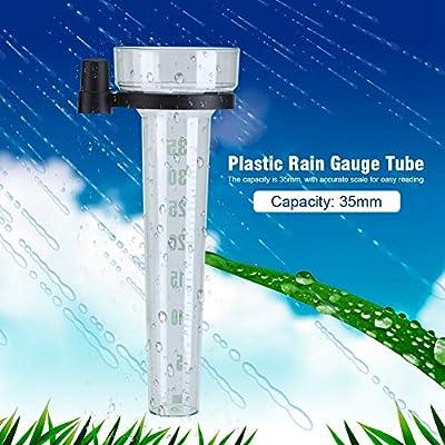 Wolfgo Pluviómetro-plástico Pluviómetro Tubo de medición precisa for el jardín al Aire Libre Patio de 35 mm Capacidad: Amazon.es: Hogar