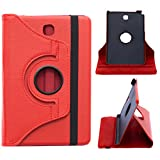 DMG Galaxy Tab A 8.0 T355 Case, 360 Degree Rotating Stand Case Cover with Auto Sleep / Wake Feature for Samsung Galaxy Tab A 8.0 T355 (Red)