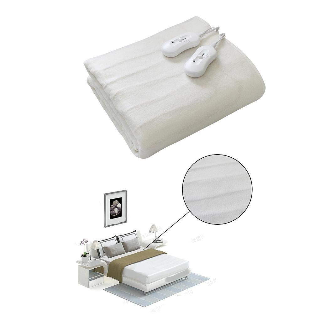 Todeco - Surmatelas Chauffant, Chauffe Lit - Standards/Certifications: CB - Réglages de température: 3 réglages, indicateur LED - Double, 160 x 140 cm, 2x60W, Blanc, Polyester, Commande manuelle à distance product image