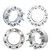 4Pcs 2000-2010 8x6.5 To 2011-2015 8x180 Conversion Wheel Spacers Adapters 8 Lug