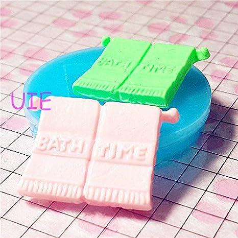 007LBF toalla de baño de silicona flexible empuje molde – comida en miniatura, dulces,