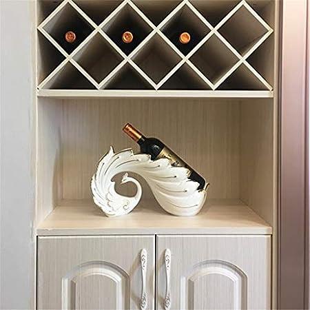 Aiglen Estatua de Pavo Real de Porcelana, Estante para Botellas de Vino, cerámica Ornamental, Utensilios de Bar y Utensilios de Cocina, decoración, Accesorios artesanales, mobiliario