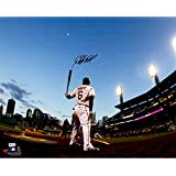 Starling Marte Pittsburgh Pirates Autographed 16'' x 20'' Waiting on Deck Photograph - Fanatics Authentic Certified