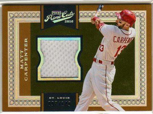 2016 Prime Cuts #128 Matt Carpenter Game-Worn Jersey Card Serial #097/149 - St. Louis Cardinals