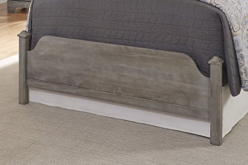 Carolina Furniture Works 537233 3/3 Poster Footboard, Vintage Gray by Carolina Furniture Works