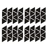 Triangles Wall Decals Set 64 Pieces DIY Home Wall Decoration For Kids Nursery-Art Vinyl Wall Sticker Removable Pattern Decor Mural-Peel and Stick Decals for Kids (Black)