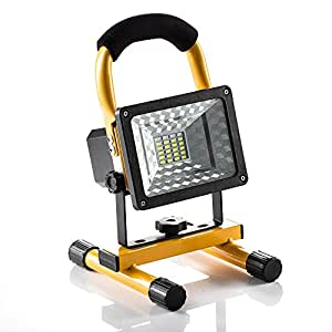 [15W 24LED] Spotlights Work Lights Outdoor Camping Lights, Built-in Rechargeable Lithium Batteries (With USB Ports to charge Mobile Devices and Special SOS Modes) …