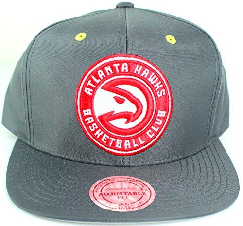 Mitchell & Ness NBA Nylon Velcro Taslan Strapback Cap (One Size, Atlanta Hawks, (Hawk Lightweight Hat)