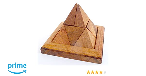LOGICA GIOCHI Art. Pirámide 9 pzs - Rompecabezas de Madera 3D ...
