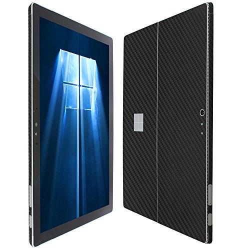 Skinomi TechSkin - Microsoft Surface Pro 4 Screen Protector + Carbon Fiber Full Body Skin / Front & Back Wrap Clear Film / Ultra HD & Anti-Bubble Invisible Shield (Pro Carbon Fiber)