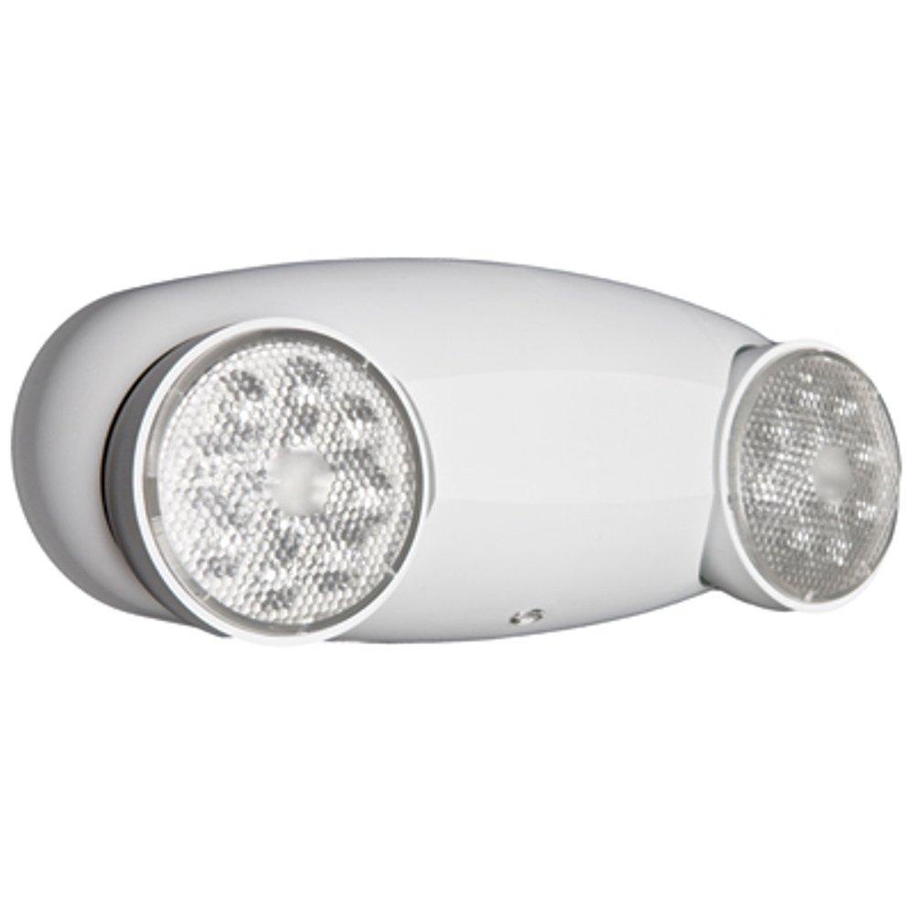 Lithonia Lighting ELM2 LED HO M12 Quantum 2-Light White LED Emergency Fixture Unit High-output ni-cad battery