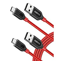 [2-Pack] Anker PowerLine+ USB-C to USB A 2.0 Cable, for Galaxy S8, S8+, MacBook, Nintendo Switch, Sony XZ, LG V20 G5 G6, HTC 10, Xiaomi 5 and More ( 6ft)