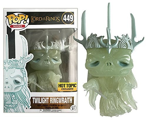 Funko Pop! Movies Lord of the Rings Twilight Ringwraith Hot Topic Exclusive Glow In The Dark Vinyl Figure #449 with Protector Case