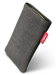 fitBAG Jive Gray funda para Nokia N97. Tela de calidad con forro de microfibra para la limpieza de pantalla