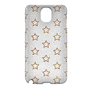 Loud Universe Samsung Galaxy Note 3 3D Wrap Around Glitter Star Print Cover - Silver/Gold