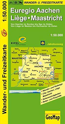 Wanderkarte Euregio Aachen - Liège 1:50 000 (Geo Map) Landkarte – Folded Map, 15. Februar 2006 GeoMap GeoCenter 3936184380 Karten