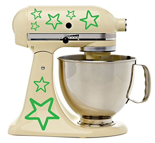 Pretty Stars Kitchenaid Mixer Mixing Machine Decal Art Wrap