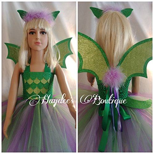 Green Dragon Tutu Dress Set by Haydee's Boutique