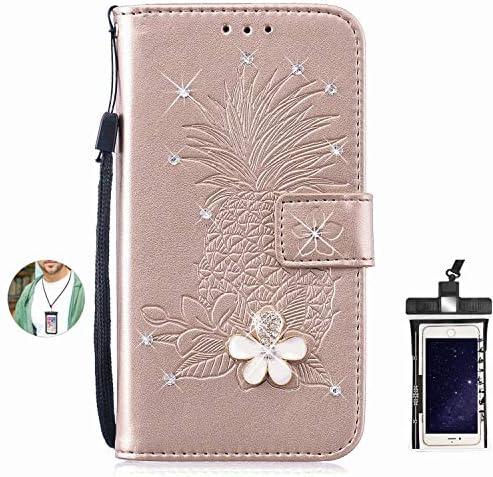 Samsung Galaxy S7 Edge ケース アイフォン 手帳型 本革 レザーケース 財布型 カード収納 マグネット式 スマホケース スマートフォンケース サムスン ギャラクシー[無料付防水ポーチ水泳など適用]