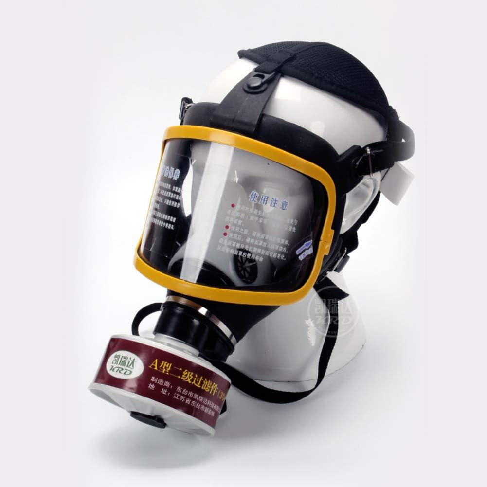 WFBP para Trabajo en Aerosol Pintura Máscara De Gas Cara Completa Pintura En Aerosol Equipo Químico De Protección Laboral para Gases Orgánicos Y Vapor Benzofenona Disulfuro De Carbono