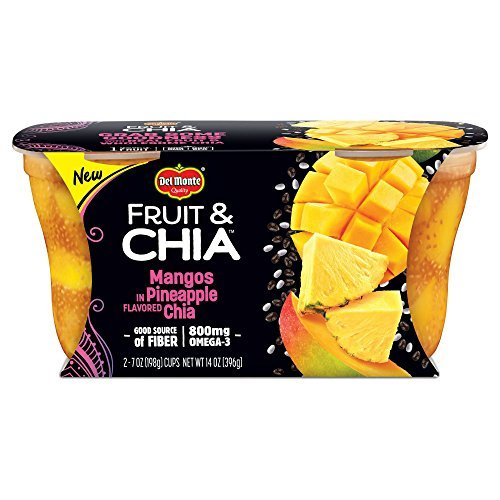 Delmonte Pineapple Chia Mangos 14oz , one cup by Del Monte