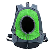 Woniu Comfortable Dog Cat Front Backpack Carriers Travel Hiking Net Green L
