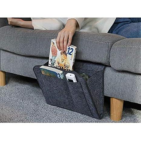 Felt Bedside Hanging Organizer Bag CerisiaAnn Bedside Storage Pocket with Multi-Pockets Magazine Phone Remote Holder Bag for Home Bed Rails Dorm
