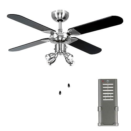Black Ceiling Fan: Amazon.co.uk