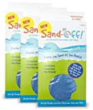 Sand-Off! Powder-Infused Mitt Beach Towel for All-natural Sand Removal - Blue - 3 Pack