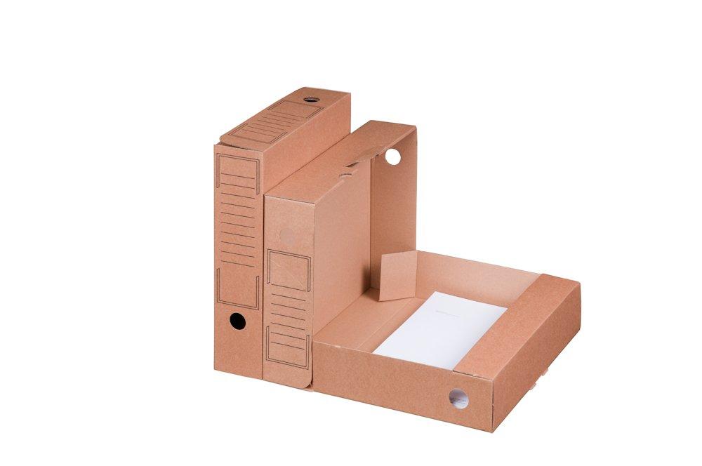 Smartbox Pro 226100510 - Juego de cajas archivadoras (base automática, 20 unidades), color marrón: Amazon.es: Oficina y papelería