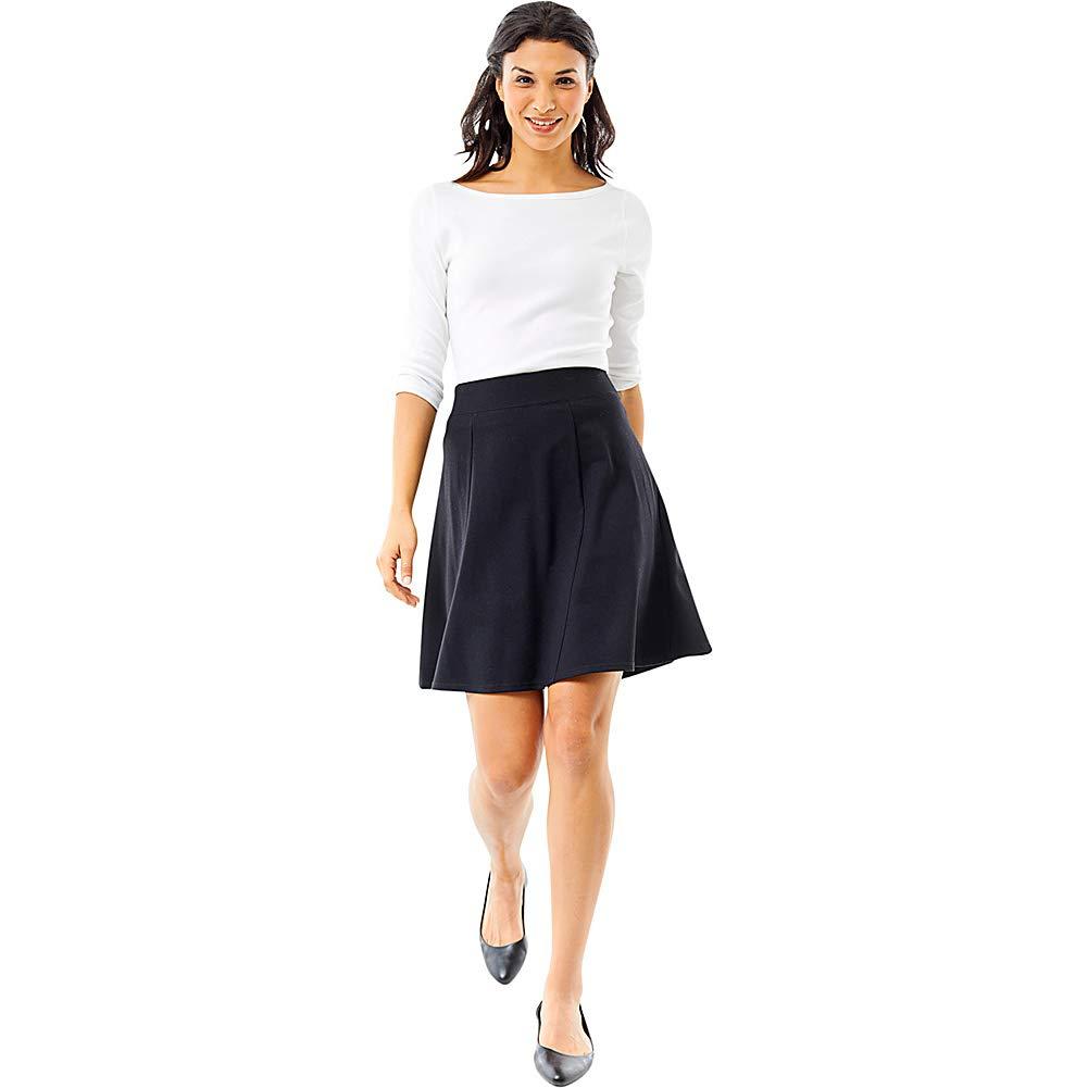 Royal Robbins Women's Geneva Ponte Skirt, Large, Charcoal Heather by Royal Robbins (Image #2)