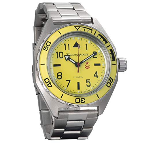 Vostok Komandirskie Mens Automatic Russian Military Wristwatch WR 200m (650859)