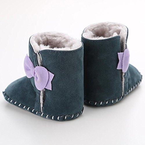 Hunpta Babyschuhe Mädchen Jungen Lauflernschuhe Baby Schneestiefel halten warme weiche Sohle weiche Krippe Schuhe Kleinkind Stiefel (12, Khaki) Grün