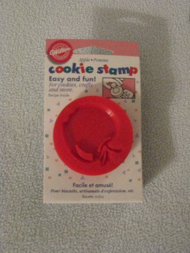 Wilton Plastic Cookie Stamp, Red Apple