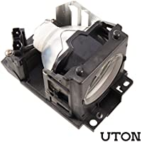 Uton DT00691 Replacement Projector Lamp for HITACHI CP-HX4050 CP-HX4090 CP-X440 CP-X443 CP-X444 CP-X444W CP-X445 CP-X445W CP-X455 MVP-320 MVP-U250 MVP-U32 MVP-U320 Projector