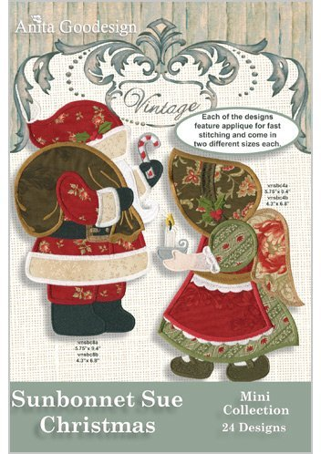 Christmas Machine Embroidery Design - Anita Goodesign Embroidery Machine Designs CD SUNBONNET SUE CHRISTMAS
