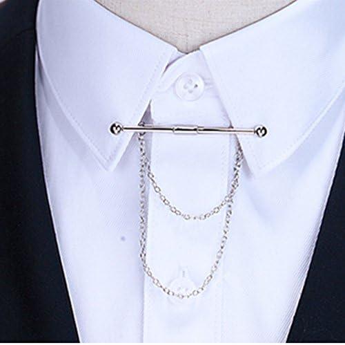 PiercingJ: alfiler de corbata con cadenas, para cuello de camisa o corbata, acero inoxidable, elegante, regalo para hombre: Amazon.es: Joyería