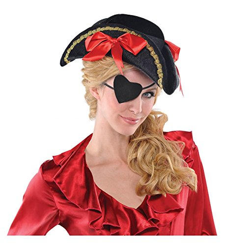 Amscan 491621 Pirate Heart Eye Patch, Multicolor, One Size ()