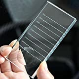 G2PLUS 2-In-1 Crystal Glass False Lashes Adhesive Glue Pallet Holder for Eyelash Extensions