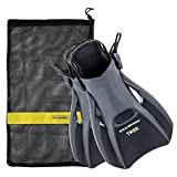 US Divers Trek Travel Fin With Mesh Carrying Bag, Black, Large